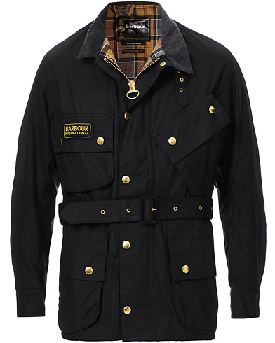 Barbour International International Original Jacket Black ryhmässä Vaatteet / Takit / Vahakankaiset takit @ Care of Carl (10004111r)