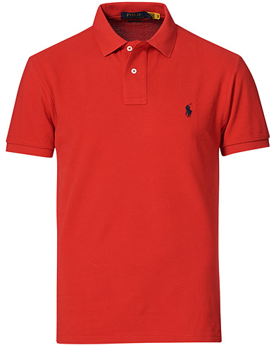 Polo Ralph Lauren Slim Fit Polo Red ryhmässä Vaatteet / Pikeet @ Care of Carl (10288611r)