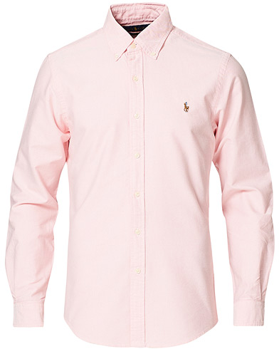 Polo Ralph Lauren Slim Fit Shirt Oxford Pink ryhmässä Samtida klassiker / Buttondown-skjortor @ Care of Carl (10339511r)