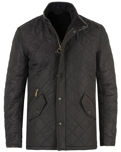 Barbour Lifestyle Powell Quilted Jacket Black ryhmässä Vaatteet / Takit / Tikkitakit @ Care of Carl (10457111r)