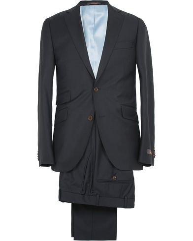Morris Paul Suit Solid Navy
