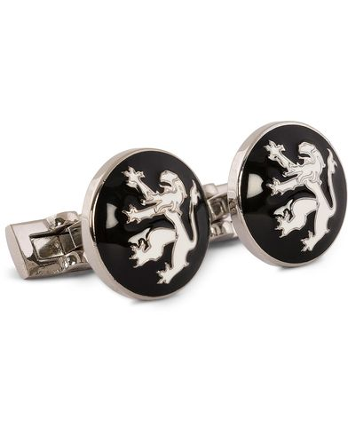 Skultuna Cuff Links The Lion Silver/Black/White