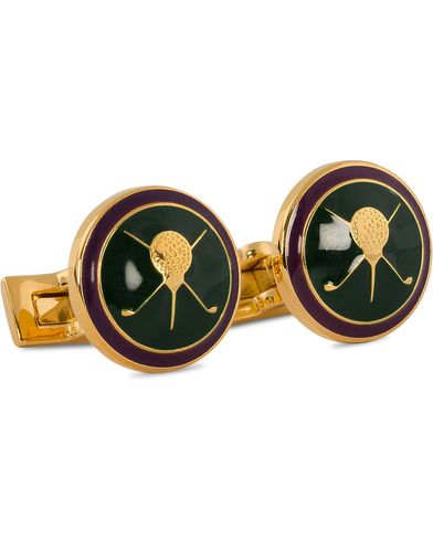 Skultuna Cuff Links Golf Gold/Green  ryhmässä Asusteet / Kalvosinnapit @ Care of Carl (10529410)