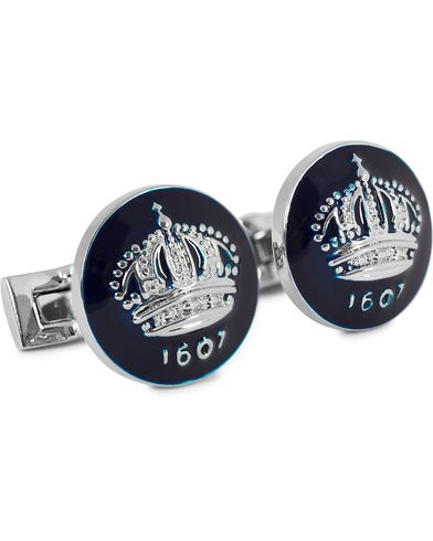 Skultuna Cuff Links The Crown Silver/Royal Blue  ryhmässä Asusteet / Kalvosinnapit @ Care of Carl (10532910)