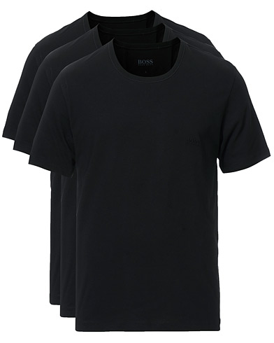 BOSS 3-Pack Crew Neck T-Shirt Black ryhmässä Vaatteet / T-paidat @ Care of Carl (10786111r)