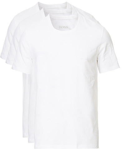 BOSS 3-Pack Crew Neck T-Shirt White ryhmässä Vaatteet / T-paidat @ Care of Carl (10786211r)
