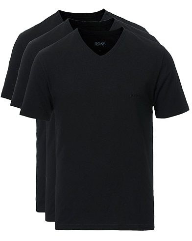 BOSS 3-Pack V-Neck T-Shirt Black ryhmässä Vaatteet / T-paidat @ Care of Carl (10786311r)