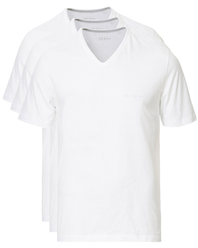 BOSS 3-Pack V-Neck T-Shirt White ryhmässä Vaatteet / T-paidat @ Care of Carl (10786411r)