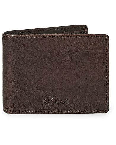 Oscar Jacobson Leather Wallet Dark Brown  ryhmässä Asusteet / Lompakot @ Care of Carl (10998310)