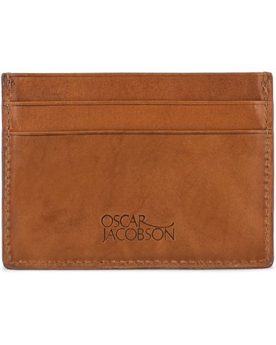 Oscar Jacobson Credit Card Holder Tan  ryhmässä Asusteet / Lompakot @ Care of Carl (10998510)