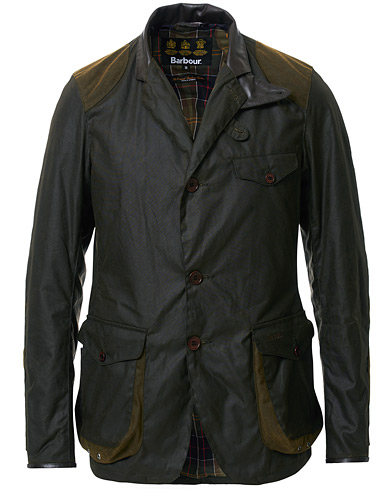 Barbour Lifestyle Beacon Sports Jacket Olive ryhmässä Vaatteet / Takit / Vahakankaiset takit @ Care of Carl (11008611r)