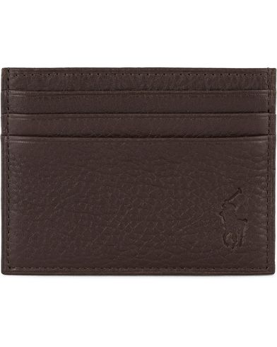 Polo Ralph Lauren Pebble Leather Slim Card Case Brown  ryhmässä Asusteet / Lompakot / Korttilompakot @ Care of Carl (11470610)