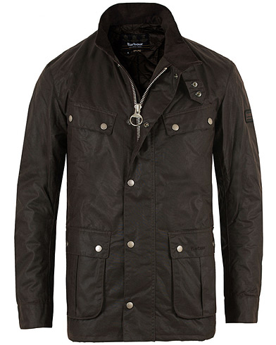 Barbour International Duke Jacket Rustic ryhmässä Vaatteet / Takit / Vahakankaiset takit @ Care of Carl (11498911r)