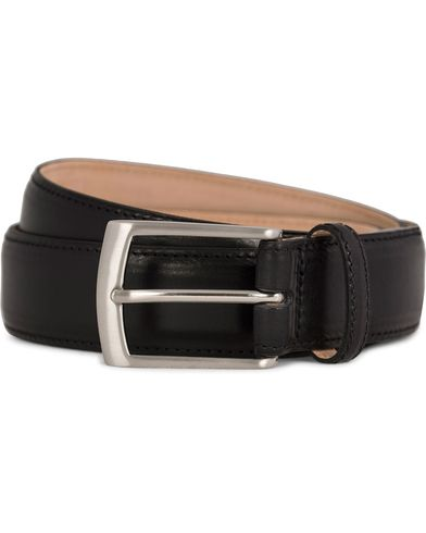 Loake 1880 Henry Leather Belt 3,3 cm Black ryhmässä Asusteet / Vyöt / Sileät vyöt @ Care of Carl (11631711r)