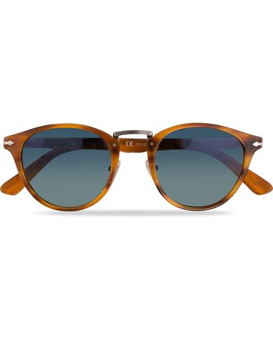 Persol PO3108S Polarized Sunglasses Striped Brown/Gradient Blue  ryhmässä Asusteet / Aurinkolasit @ Care of Carl (11964210)