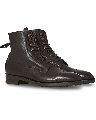 Edward Green Galway Grained Boot Dark Brown Utah Calf