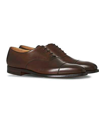 Crockett & Jones Hallam Oxford Dark Brown Calf ryhmässä Kengät / Oxford-kengät @ Care of Carl (12049711r)