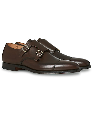 Crockett & Jones Lowndes Monkstrap Dark Brown Calf ryhmässä Kengät / Solkikengät @ Care of Carl (12049911r)