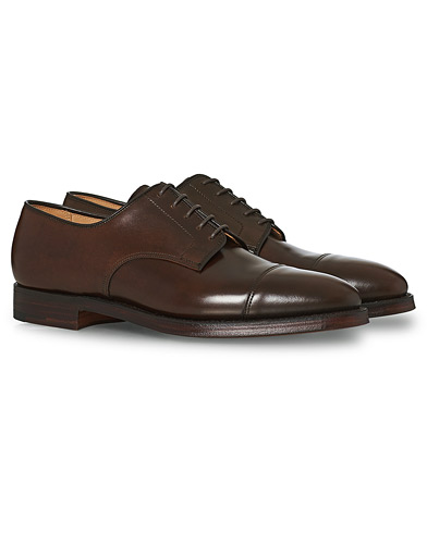 Crockett & Jones Bradford Derby Dark Brown Cordovan ryhmässä Kengät / Derby-kengät @ Care of Carl (12050611r)