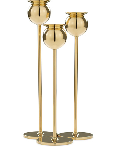 Skultuna The Tulip Candlestick Brass Set of Three  ryhmässä Asusteet / Lifestyle / Kotiin @ Care of Carl (12298610)