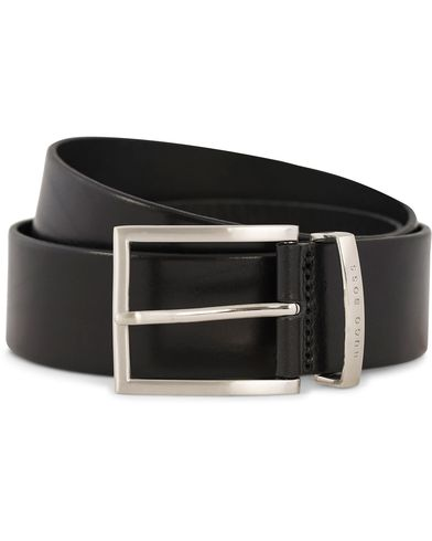 BOSS Buddy Leather Jeans Belt 4 cm Black ryhmässä Asusteet / Vyöt / Sileät vyöt @ Care of Carl (12309911r)