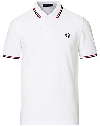 Fred Perry Twin Tip Polo White
