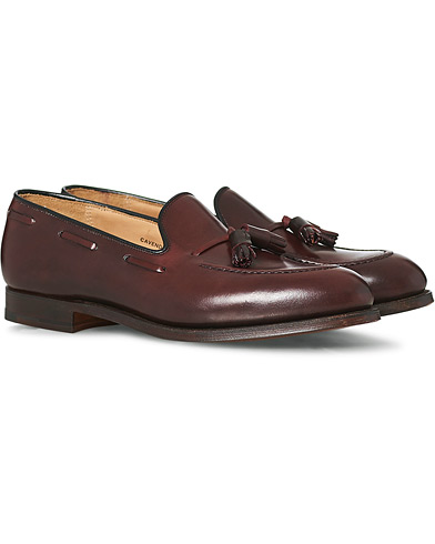 Crockett & Jones Cavendish Tassel Loafer Burgundy Cordovan