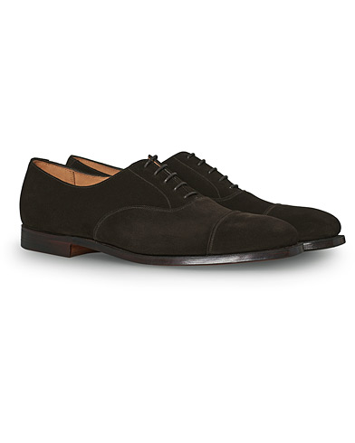 Crockett & Jones Hallam Oxford Espresso Suede ryhmässä Kengät / Oxford-kengät @ Care of Carl (12681011r)