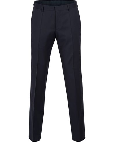 BOSS Gibson Regular Fit Wool Trousers Dark Blue ryhmässä Vaatteet / Housut / Suorat housut @ Care of Carl (12743711r)