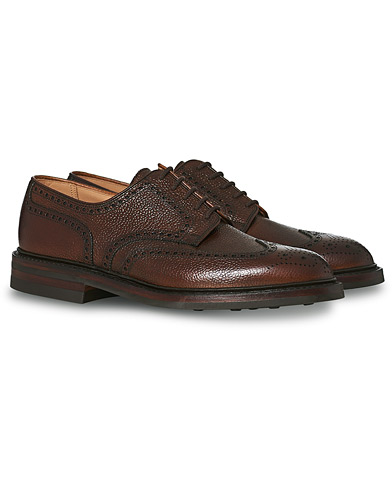 Crockett & Jones Pembroke Derbys Dark Brown Grained Calf ryhmässä Kengät / Brogue-kengät @ Care of Carl (13235111r)