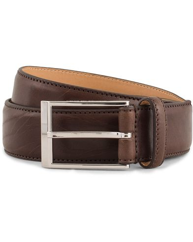 Tiger of Sweden Helmi Leather 3,5 cm Belt Brown ryhmässä Asusteet / Vyöt / Sileät vyöt @ Care of Carl (13491811r)
