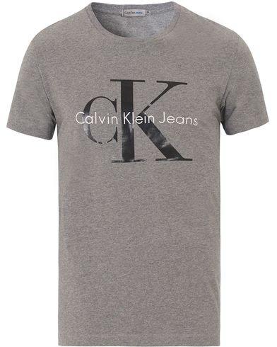 Calvin Klein Jeans True Icon Crew Neck Tee Mid Grey Heather ryhmässä  Vaatteet   T- e79eb61267