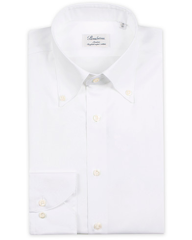 Stenströms Slimline Button Down Shirt White