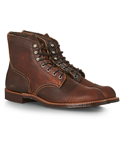 Red Wing Shoes Iron Ranger Boot Copper Rough/Tough Leather ryhmässä Kengät / Nilkkurit / Nauhalliset varsikengät @ Care of Carl (14360011r)