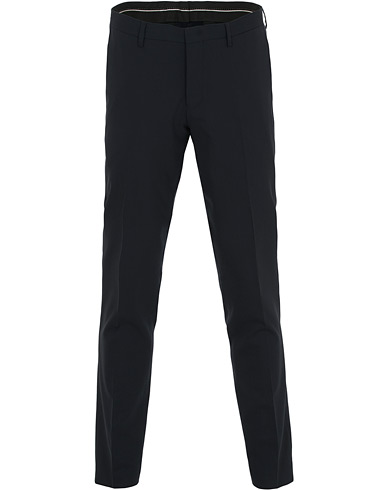 Tiger of Sweden Malthe Wool Stretch Trousers Navy ryhmässä Vaatteet / Housut / Suorat housut @ Care of Carl (14861611r)