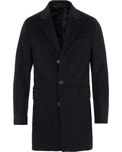 Oscar Jacobson Saks Wool/Cashmere Coat Navy