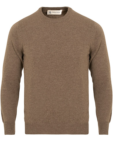 Piacenza Cashmere Cashmere Crew Neck Sweater Brown