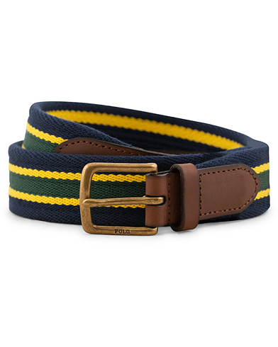 Polo Ralph Lauren Tab Front Web Belt Navy Stripe