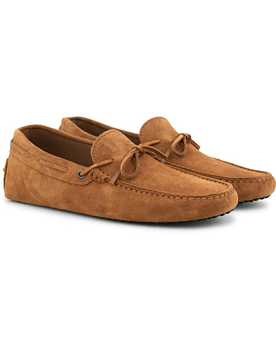 Tod's Laccetto Gommino Carshoe Tobacco Suede