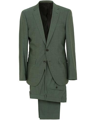 BOSS Huge/Genius Stretch Wool Suit Green