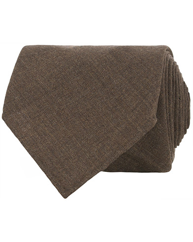 Berg&Berg Handrolled Seven Fold Wool8 cm Tie Tobacco