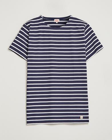 Armor-lux Hoëdic Boatneck Héritage Stripe T-shirt Navy/White