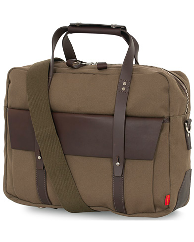 Chapman Bags Wye Work Canvas Briefcase Olive  ryhmässä Asusteet / Laukut @ Care of Carl (16076510)