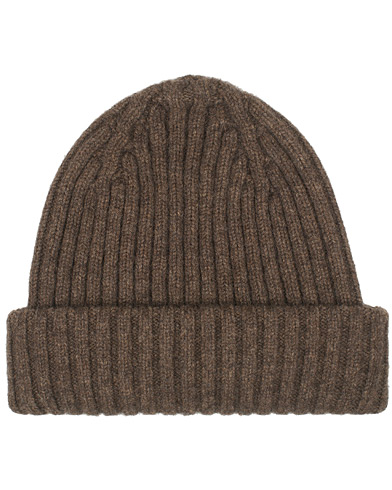 Drake's Lambswool/Angora Ribbed Hat Brown