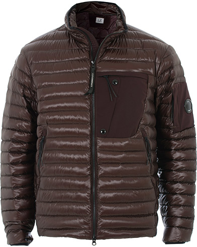 C.P. Company Lightweight Padded Lens Jacket Burgundy