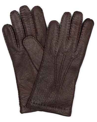Hestra Peccary Handsewn Cashmere Glove Bordeaux