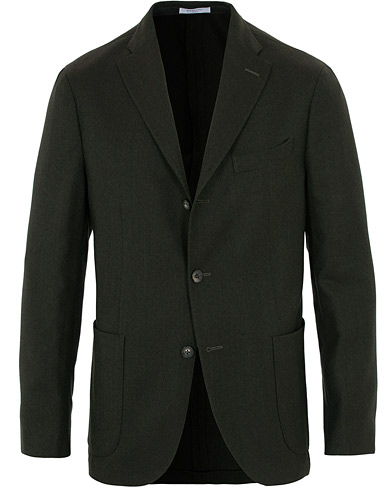 Boglioli K Jacket Wool Hopsack Blazer Dark Green