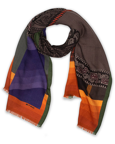 Etro Wool/Silk Scarf Orange