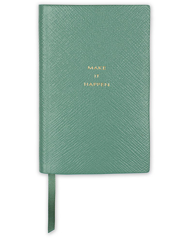 Smythson Panama Notebook Sea Green Make It Happen   ryhmässä Asusteet / Lifestyle / Lehtiöt @ Care of Carl (16367110)