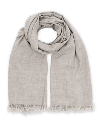 Begg & Co Kishorn Cashmere Scarf Washed Silver Grey